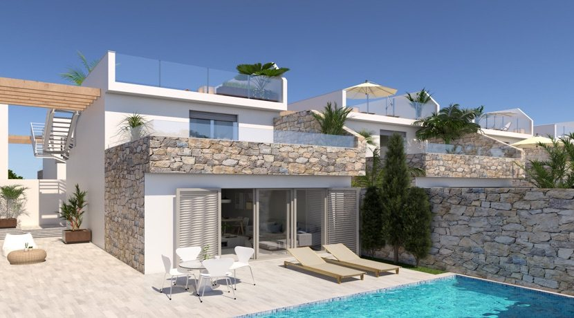 New Villas just 440 Metres from the sea – Los Alcazares