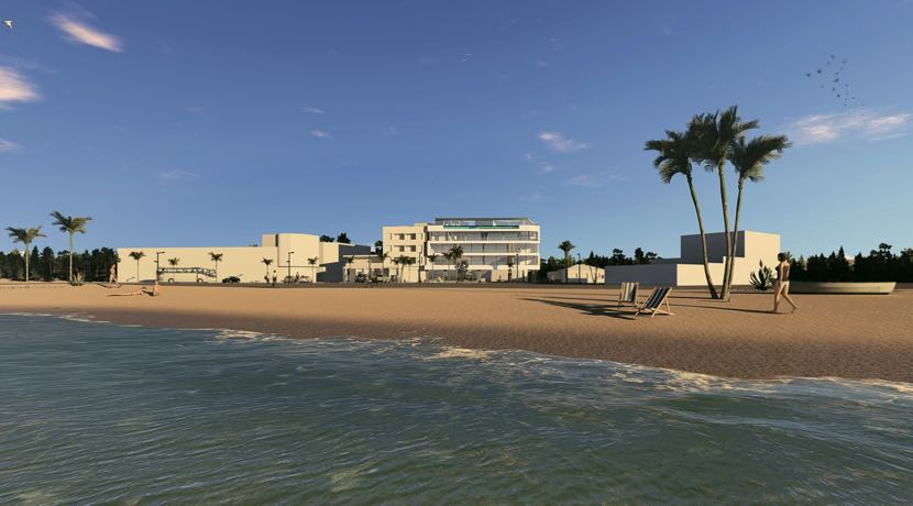 Frontline beach apartments in Lo Pagan