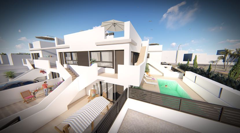 New Build Apartments with Private garden or Solarium – 550 Metres from the sea – Lo Pagan